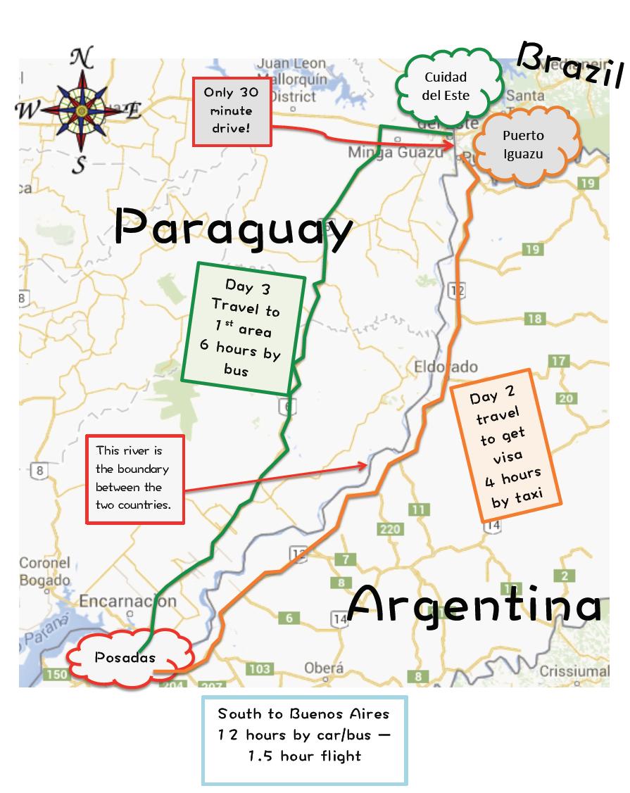 Cordoba Argentina Mission Map - Argentina bus map