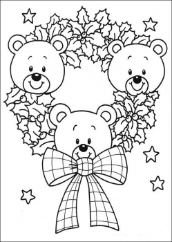 Christmas Wreaths Coloring Pages
