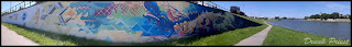 Mural na bulwarach wiślanych