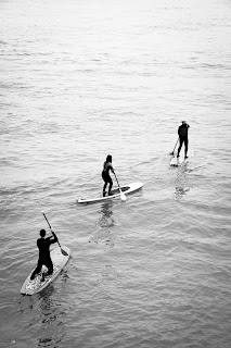 Paddle board surfing Newquay Cornwall