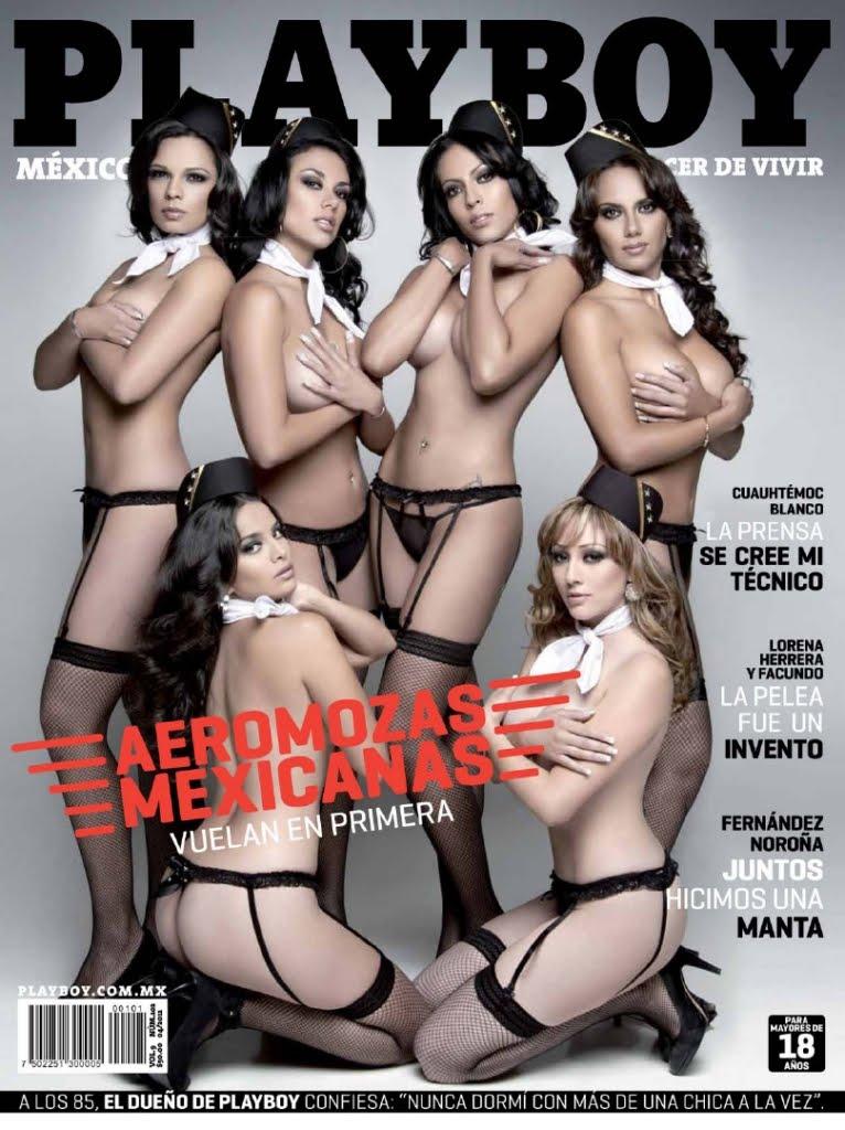 Aeromozas de México - Playboy México Enero 2011 - PDF COMPLETA