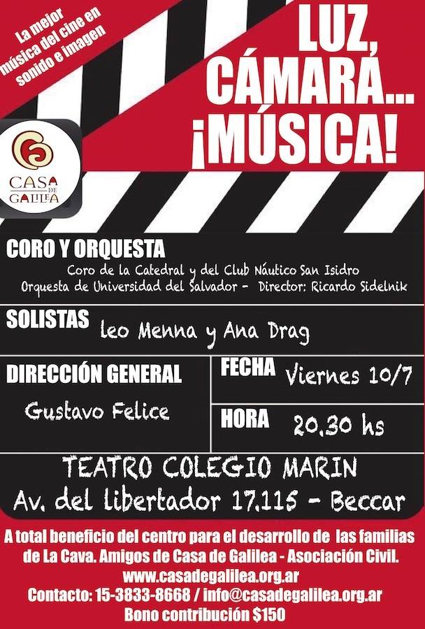 Concierto a Beneficio Casa Galilea