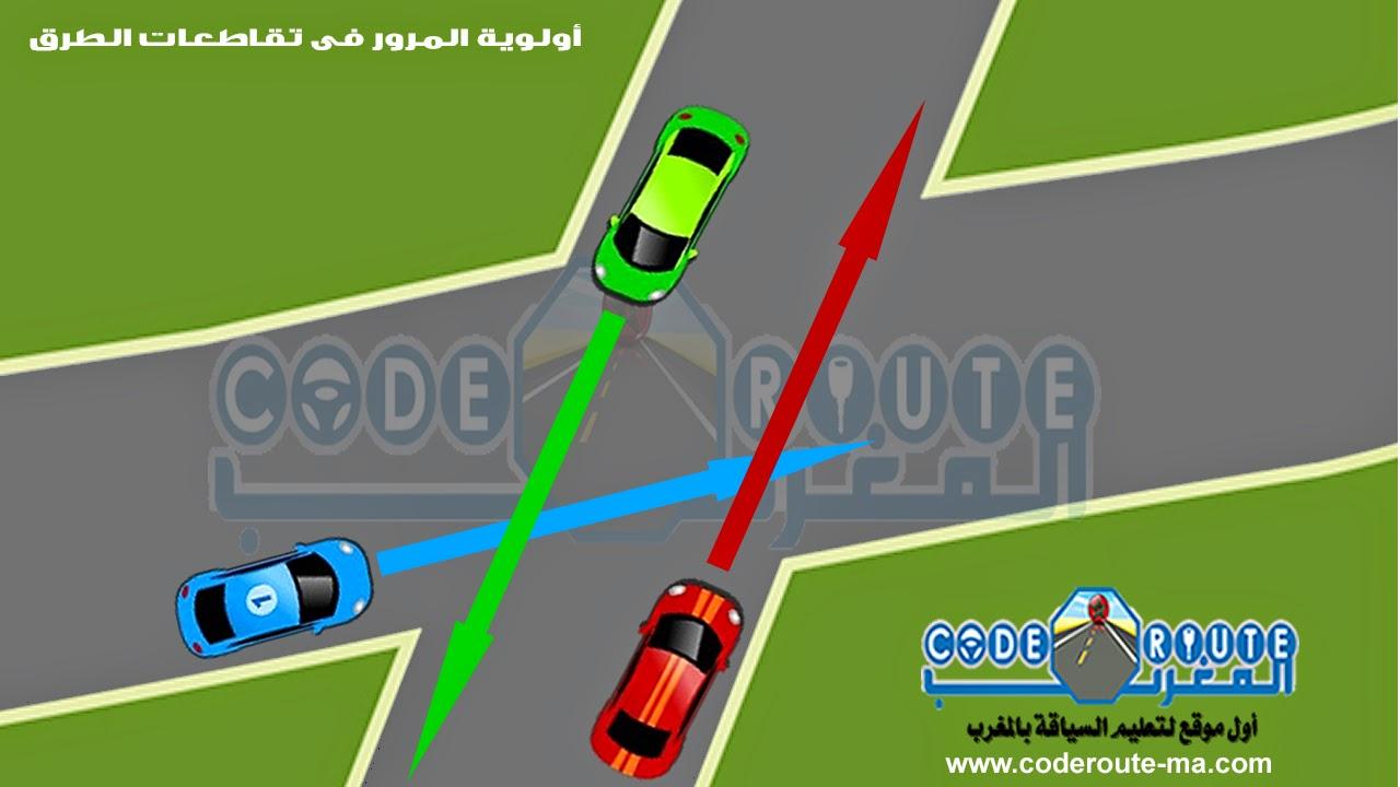 أولوية المرور فى تقاطعات الطرق