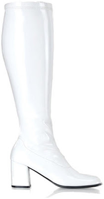 White Gogo Boots for Halloween