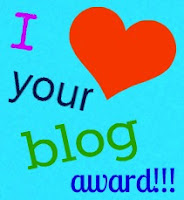 I Love your Blog Award by Sara!