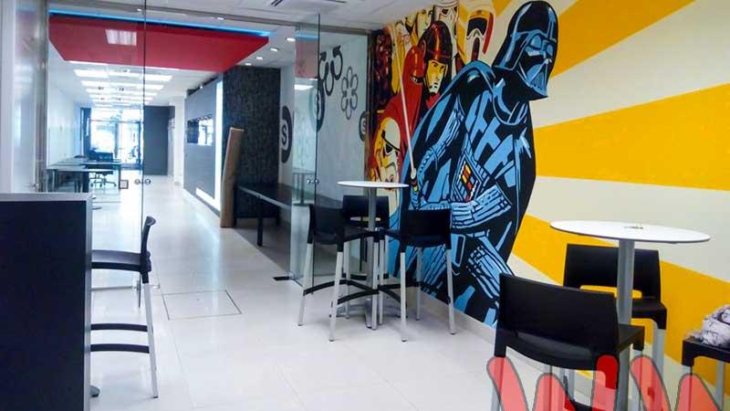 Berok graffiti mural profesional en barcelona decoraci n for Oficinas de hacienda en barcelona