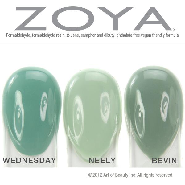 Zoya Bevin Vs Wednesday Zoya Nail Polis...