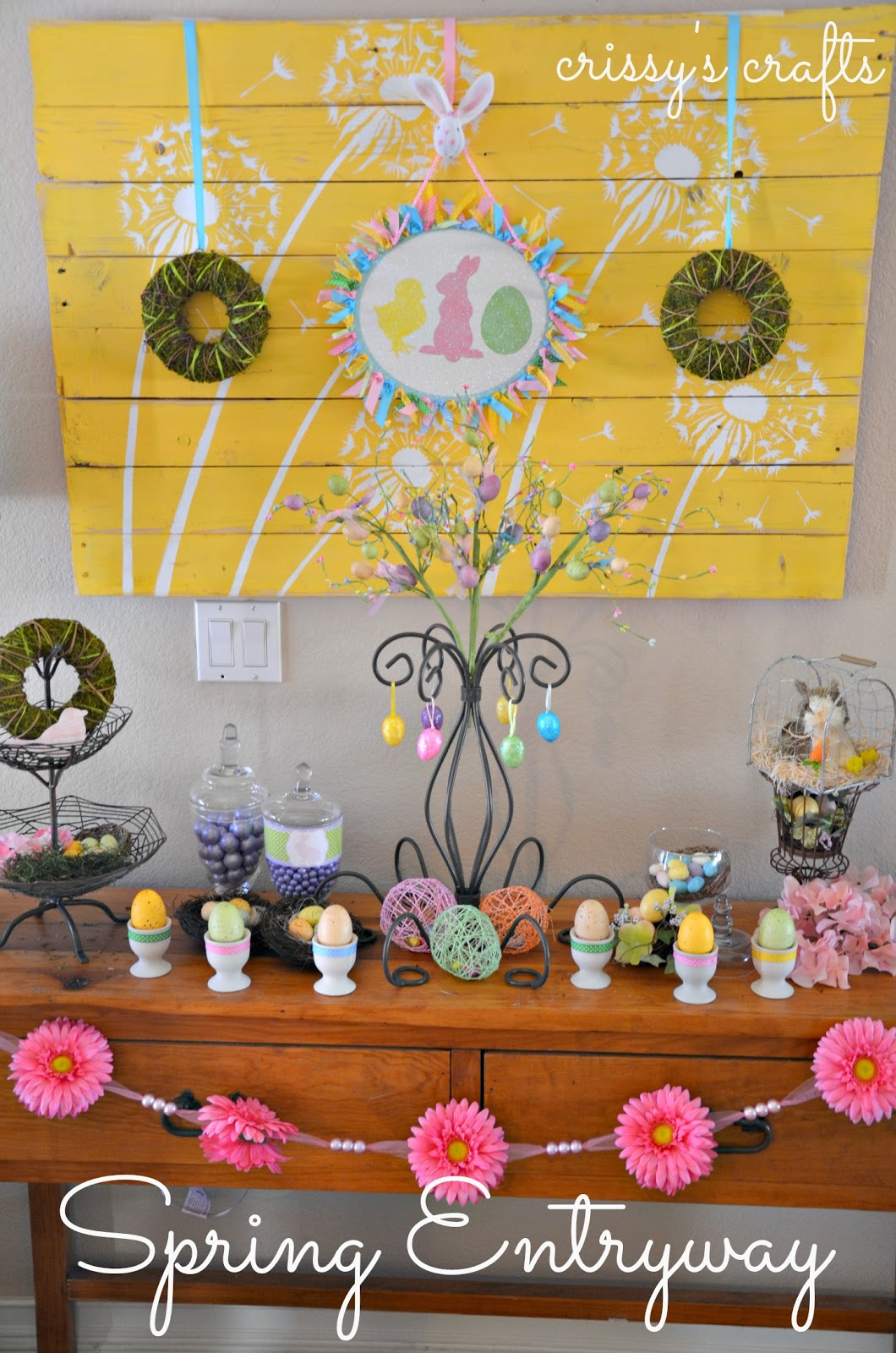Crissy\'s Crafts: Easter/Spring Entryway