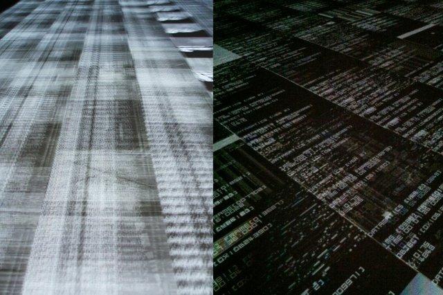 Exposicion Datamatics de Ryoji Ikeda en LABoral Centro de Arte y Creacion Industrial en Gijon