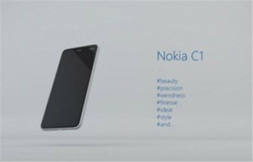 Bocoran pertama desain Nokia C1 Android (GSM Arena)