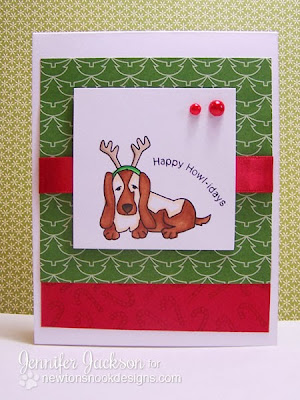 Happy Howl-idays Dog Christmas Card by Newton's Nook Designs