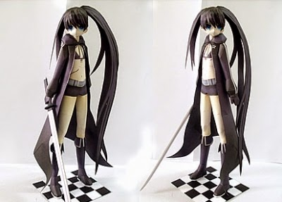 Black Rock Shooter - Mato Kuroi Papercraft