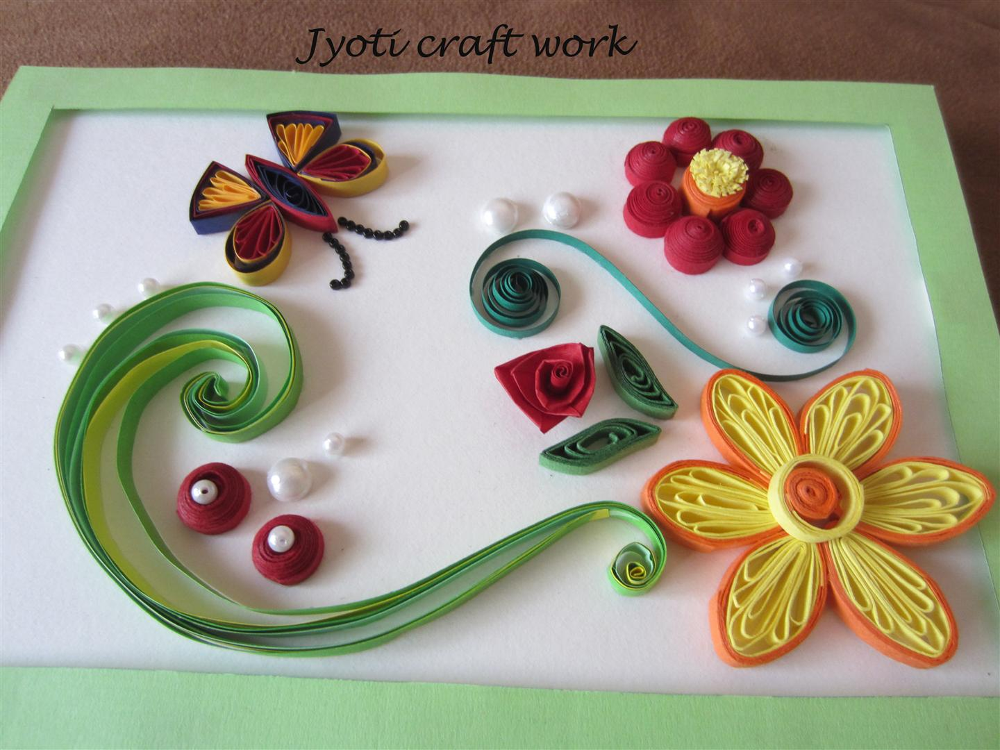 My craft work: Quilling birdies :)