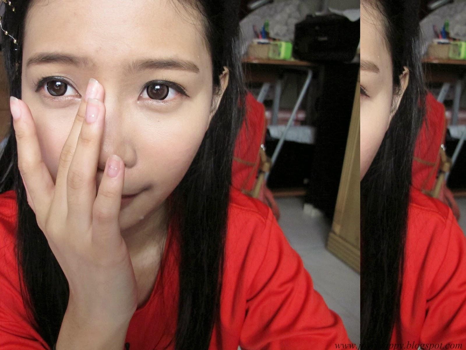 eyeshadow powder as a nose contour powder