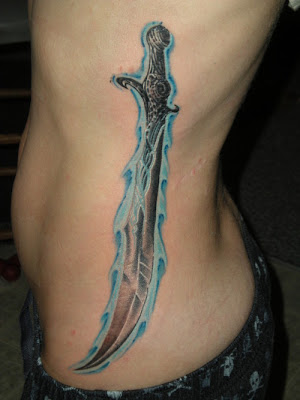 Curved Sword Tattoo
