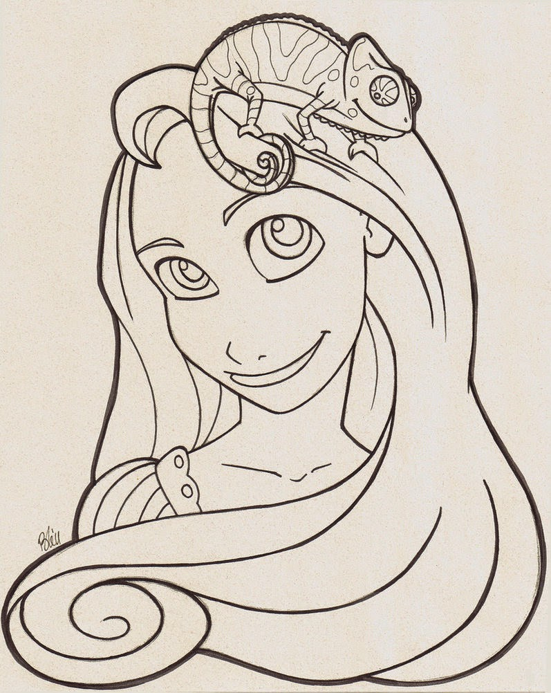 Free Coloring Pages Of Tangled