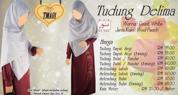 tudung labuh borong butik baju muslimah online