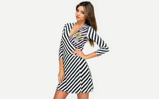 Miranda Kerr in Zebra Style