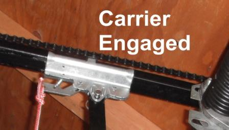 re engage garage door manually