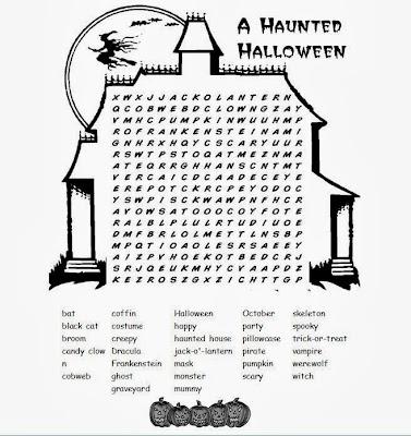 Hard Halloween Word Search 4