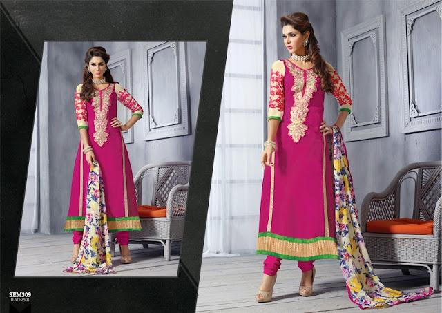 Buy Latest Long Length Georgette Salwar Kameez