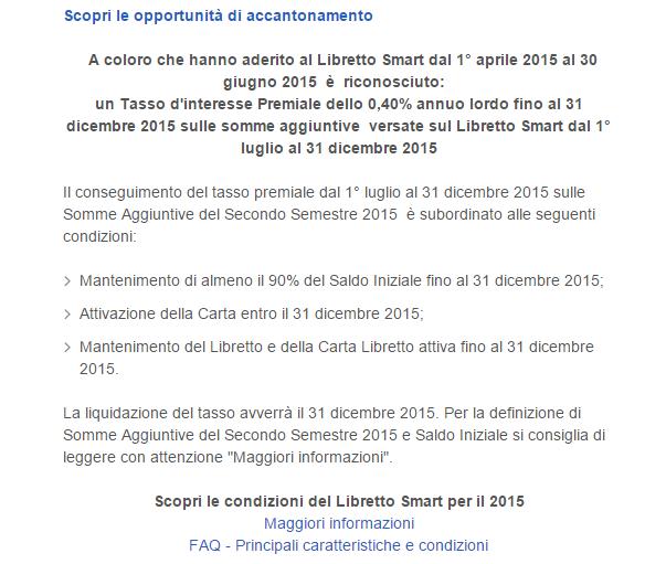 Interessi Libretto Postale Smart
