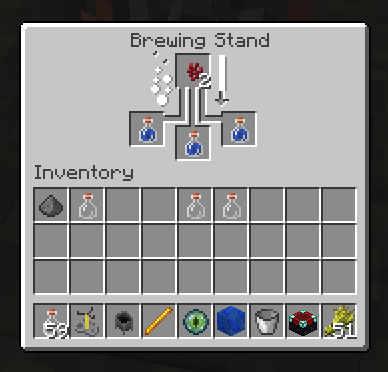 minecraft how to craft a brewing stand