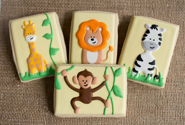 jungle animal baby shower favors