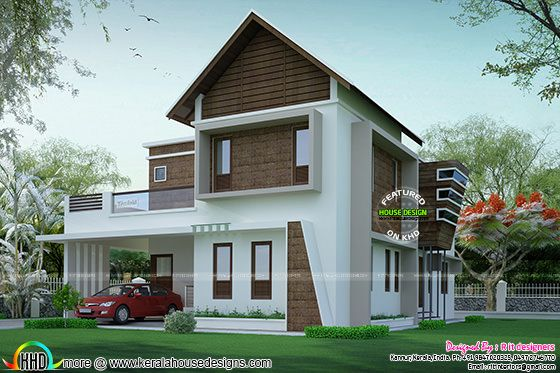Laterite wall mix house in 2467 sq-ft