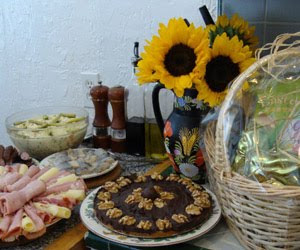 Easter dishes - ham, mazurka, herring, salads, chocolate