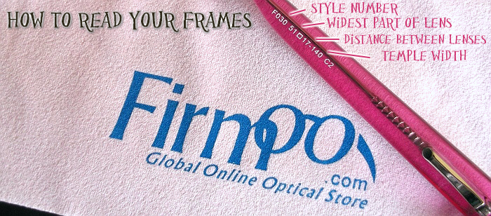 How To Read Your Frames to order glasses online.