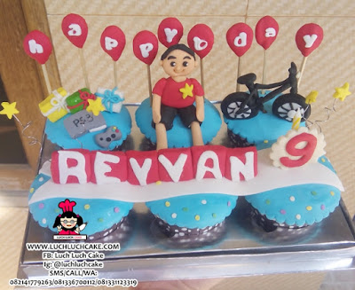 Cupcake Tema Sepeda Daerah Surabaya - Sidoarjo