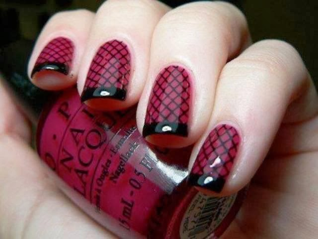 Nail designs that take you to a winter wonderland black and red is always in every winter but if you can keep these from chipping for awhile youll have extra sultry nail design to show off on valentines prinsesfo Gallery