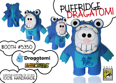 San Diego Comic-Con 2013 Exclusive Puffridge Dragatomi Plush Figure by Furry Feline Creatives