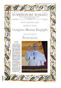 Edición extraordinaria de L'Osservatore Romano por la elección del Papa . catholicvs franciscus pp osservatore romano