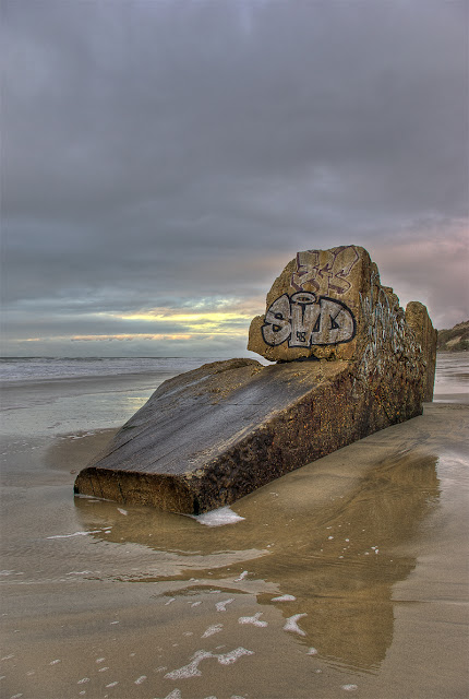 hdr plage, blockhaus gironde, photo plage hdr, photo plage du gurp, graffitis hdr, photo hdr fabien monteil
