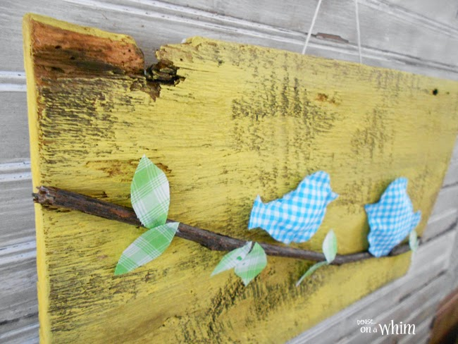 Fabric Birds on a Branch Sign | Denise on a Whim