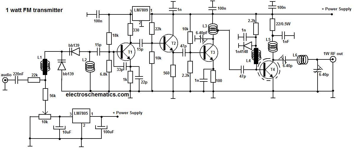 1 watt portable fm transmitter