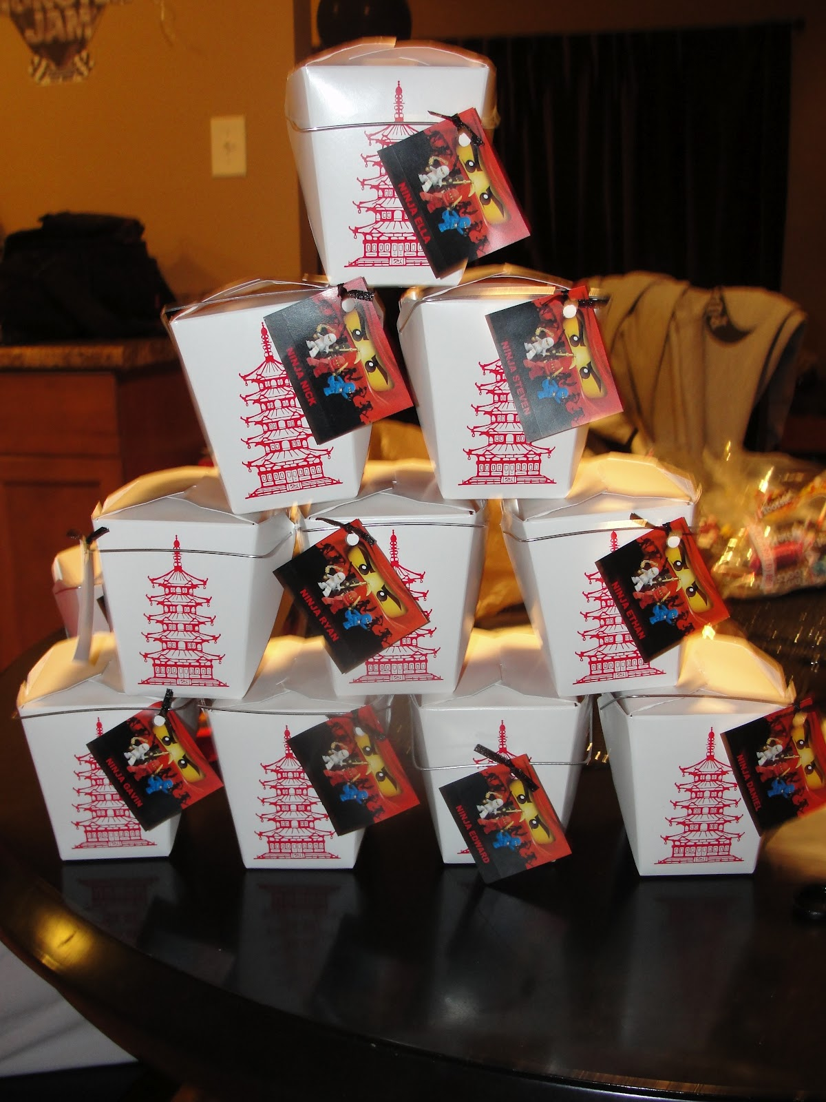 Party Favor Chinese Take Out Boxes : A new dawnn ninjago birthday party