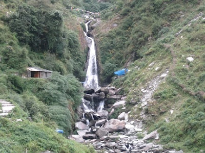 Mcleodganj, dharamsala, hill stations, buddhism, india, travel, waterfall, bhagsu nag