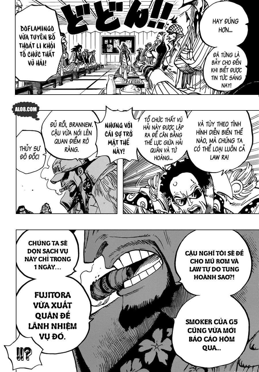 One Piece Chapter 700: Nước cờ 014