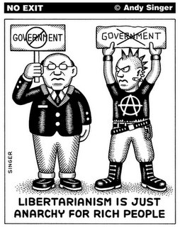 Cartoon: Libertarianism is just anarchy for rich people