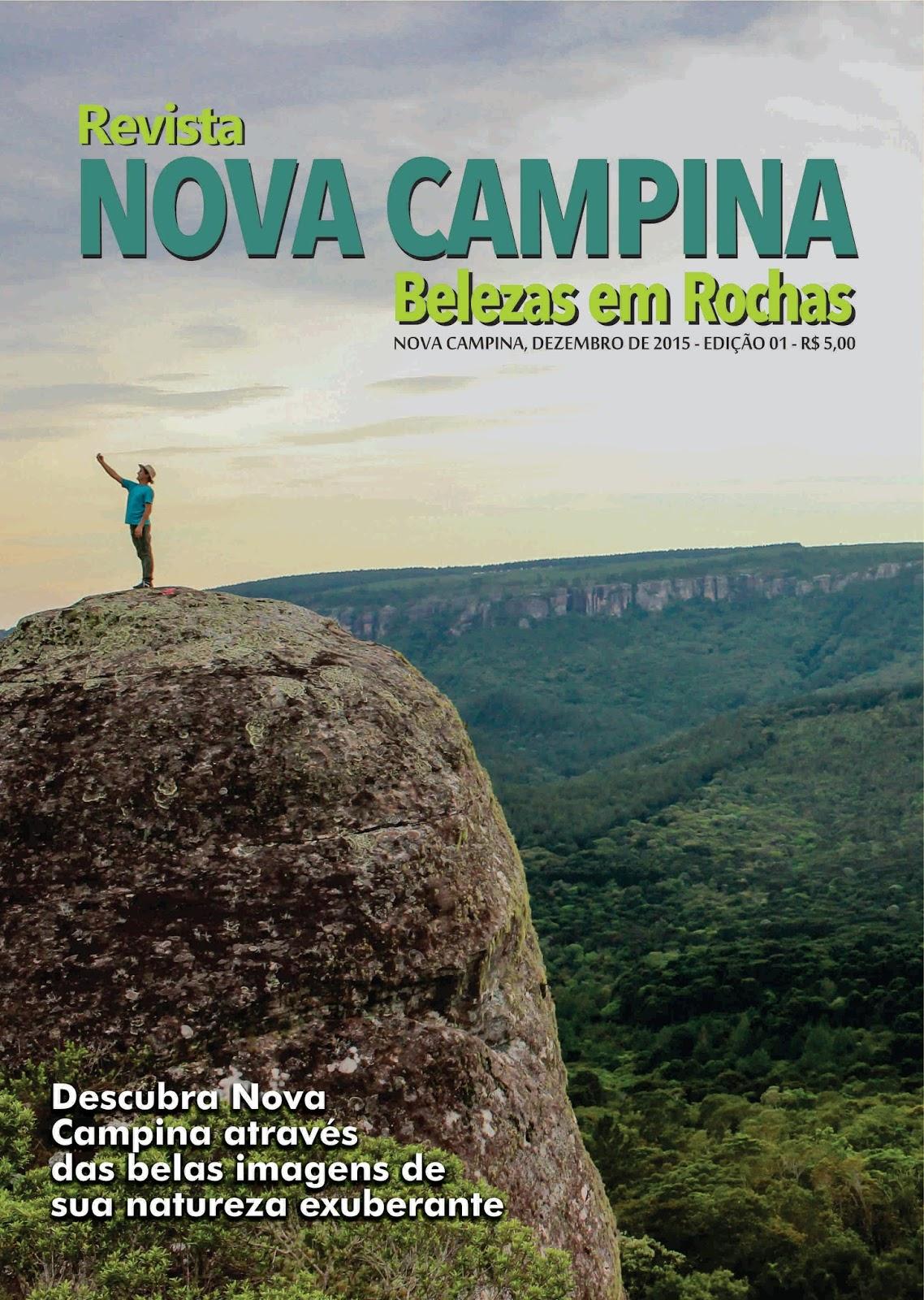 Capa da Revista Nova Campina Belezas em Rochas