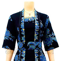 DB3042 - Model Baju Dress Batik Modern Terbaru 2013