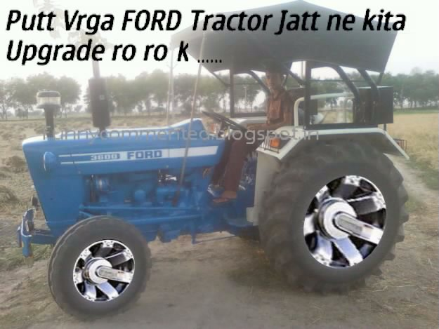 FORD TRACTOR WITH BMW RIMS FUNNY COMMENTED