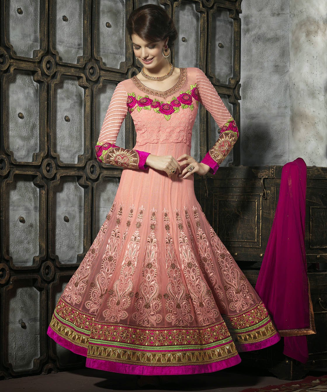 Looks - Anarkali embroidery suits collection video