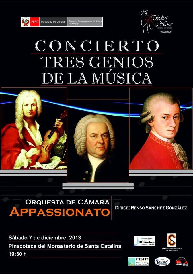 Concierto tres genios de la Música - 7 diciembre