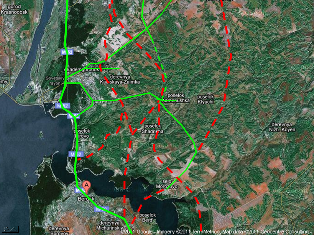 схема проезда новосибирска на трассу