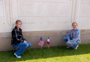 Honoring fallen great-uncle at Normandy.  He died in Aug, 2 wks. before the invasion was complete.