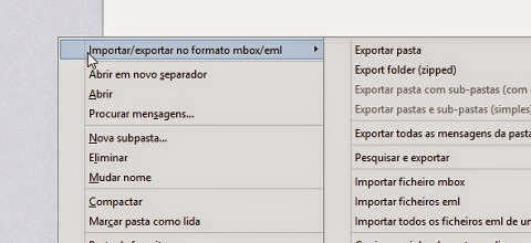 Como abrir arquivos Mbox no ThunderBird